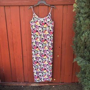 Vintage 90s grunge floral maxi dress BoHo